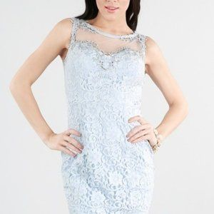 Nikibiki Dresses - Beaded Sheer Yoke Lace Dress